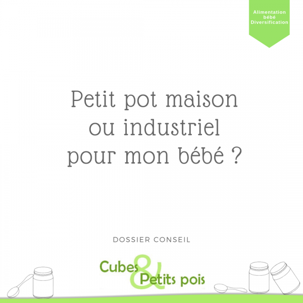 Petit pot maison ou industriel dans l'alimentation de bébé Cubes et Petits pois diversification alimentaire et cuisine bio pour bébé