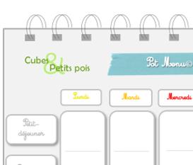Planifier les menus de bébé : Menu à télécharger