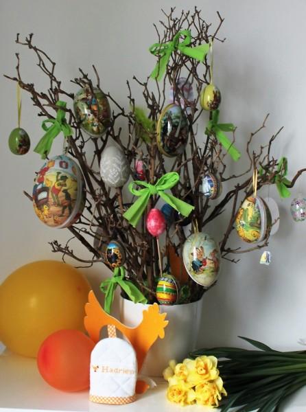 DIY arbre à oeufs ou arbre de Pâques