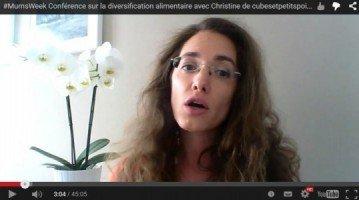 Vidéo Mumsweek Diversification alimentaire bébé