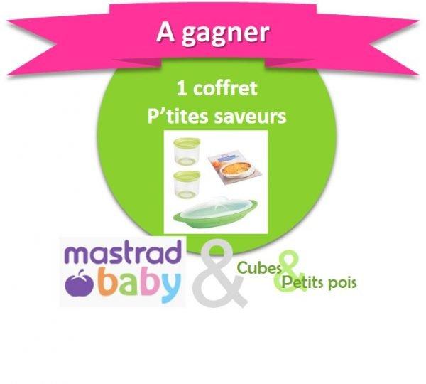 Mastrad Baby offre un coffret P'tites Saveurs Anniversaire Cubes et Petits pois