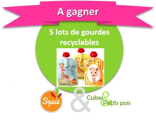 Squiz offre des gourdes recyclables - Anniversaire Cubes et Petits pois {Cadeau 8}