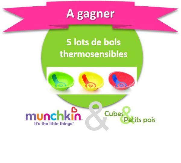 Munchkin offre 5 lots de bols thermosensibles {Anniversaire Cubes et Petits pois}
