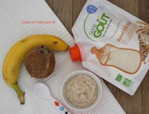 Recette de porridge pour bébé banane coco