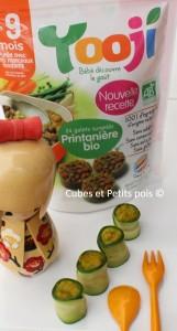Recette pour bébé Makis aux petits légumes Yooji