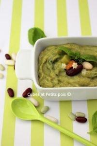 Recette bébé soupe au pistou Cubes et Petits pois Diversification alimentaire