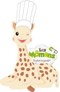Sophie la girafe et Cubes et Petits pois ateliers cuisine bébé