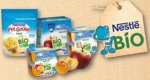 Petit pot bébé Nestlé Bio Purées Compotes et Goûters Cubes et Petits pois