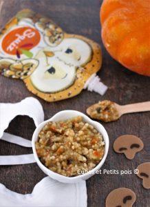 Semoule aux légumes d'automne pour bébé Recette de Cubes et Petits pois Squiz Diversification alimentaire, alimentation et cuisine pour bébé gourde réutilisables