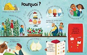 Les aliments Mon livre des questions-réponses éditions Usborne Expliquer les aliments aux enfants