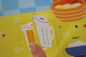 Premières grandeurs et mesures Usborne Avis Cubes et Petits pois Cuisine bio pour bébé 02