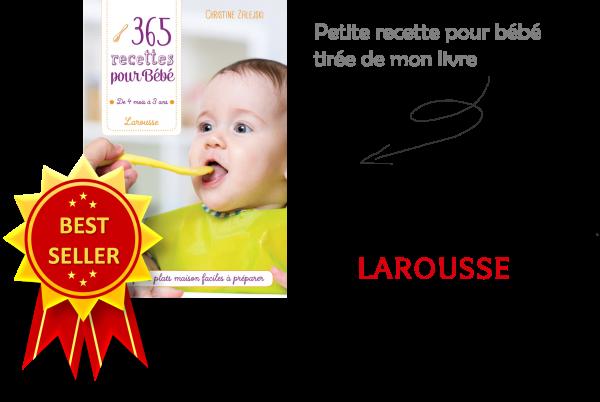 Recettes pour bébé best seller Cubes et Petits pois Diversification alimentaire et cuisine pour bébé bio