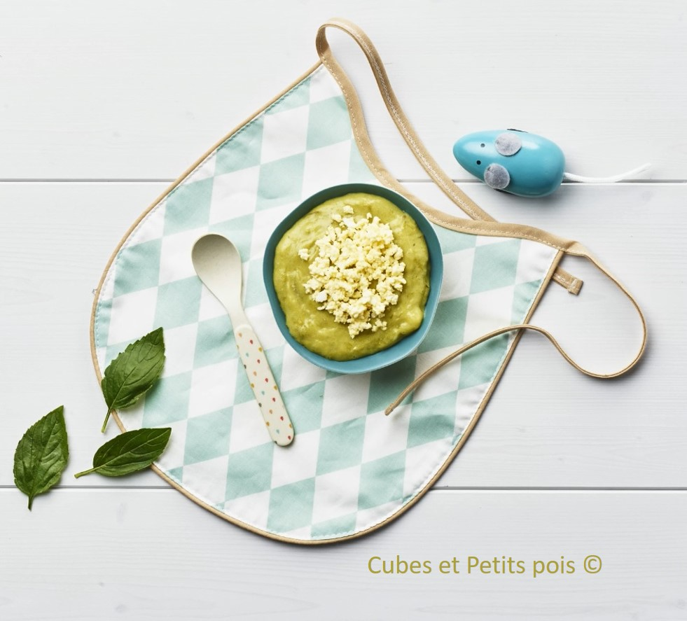 Recette pour bébé Purée d'asperge et oeuf mimosa 10 12 mois Cubes et Petits pois diversification alimentaire et cuisine bio pour bébé